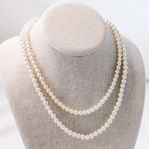 Vintage - Faux Pearl Multi-String Necklace
